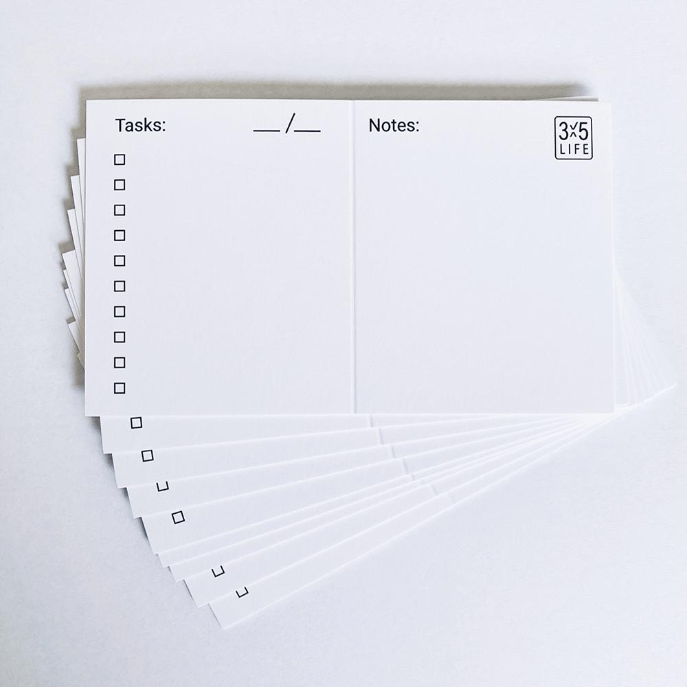 3x5 life cards